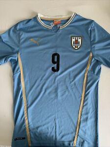 Puma Luis Suarez #9 Uruguay 2014 Football Shirt - Size Medium
