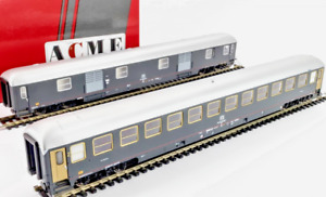 ACME 70079 Set 2 carrozza + bagagliaio FS 2° cl Tipo X 1970 rapido 905 ep IV H0