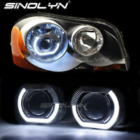 LED Daytime Running Lights Angel Eyes Halo HID Bixenon Projector Lens Headlights