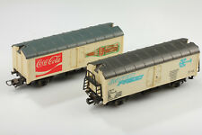 H0 2 Rumpelige Lima Carro Frigorifero Interfrigo Und Coca-Cola Sporco/Graffi/