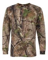 Realtree Camo Long Sleeve T Shirt Brand New Camouflage Plain Hunting Fishing Top