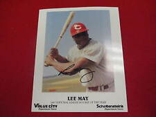 Lee May autograph 8x 10 photo 1967 NL Rookie of the Year  ROY signature