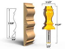 "2-5/8"" Crown Molding Router Bit - 1/2"" Shank - Yonico 16154"