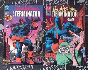 Deathstroke the Terminator #1 2 3 4 1991 DC Comics Wolfman Teen Titans Ravager