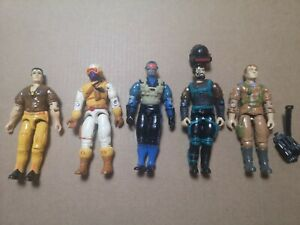 G.I. Joe ARAH 1991-Mini-Lot of 5 figures Snake Eyes, Grunt, Snow Serpent +2 more