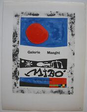 Joan Miro Oeuvres recentes 1953 Maeght Orig Lithografie Maitres de l'Ecole 1959