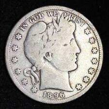 1896-S Barber Half Dollar CHOICE VG FREE SHIPPING E358 XCXX