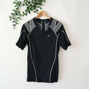 IntelliSkin Men's Foundation V-Tee Short Sleeve Posture Shirt Black S Small