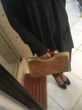 UEC Hobo International LAUREN Wallet Clutch Bamboo Gold Halo Stingray $250
