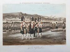 Ackermann's Chobham Scenes 1853 Aquatint - 93rd Highlanders