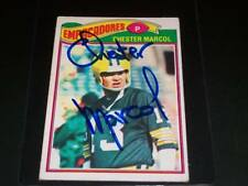 Packers Chester Marcol Signed 1977 Topps Mexican #323