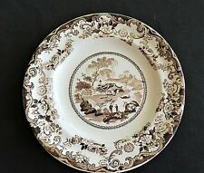 Vintage Brown Transferware Small Plate Ironstone Staffordshire Gifts for her
