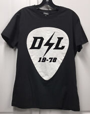 Diesel DL Lightning Bolt 19-78 Guitar Pick Black T Shirt - Large L Band