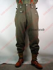 WWII German Field-grey Wool M1942 Field Trousers (Keilhosen M42) M
