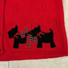 Marisa Christina Scotty Dog Sweater Vest Large Red Christmas collection holiday