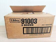 3 Dozen Libbey Model 91003 4 3/4 Libbey Espresso Clear Glass Saucer Rare Design