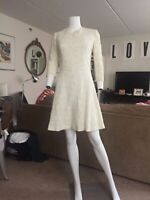 Vintage White Lace 3/4 Sleeve Fit and Flare Dress Size 6