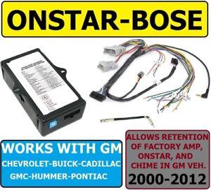 BOSE-ONSTAR-ADAPTER FOR GM CAR TRUCK SUV VAN CAR RADIO STEREO INSTALLATION
