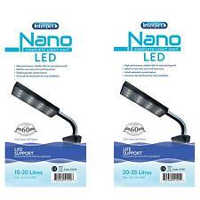 INTERPET NANO SMALL AQUARIUM LED BRIGHT WHITE LIGHT UNITS FISH TANK ALL WATER
