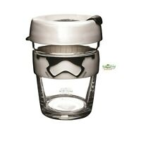 KeepCup Star Wars Stormtrooper Brew Glass Cup Coffee Tea Drink Reusable 12oz