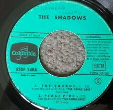 """THE SHADOWS - THE SAVAGE / WONDERFUL LAND - 7"""" EP Vinyl 45 RPM COLUMBIA FRENCH"""