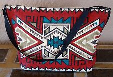 Canvas Stencil Purse 684C-HIPC Southwest Southwestern Design Sturdy Cotton Bag