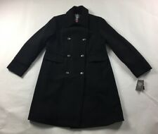 Women's Vince Camuto Wool Pea Coat Jacket Size XL Formal Black Double Breasted