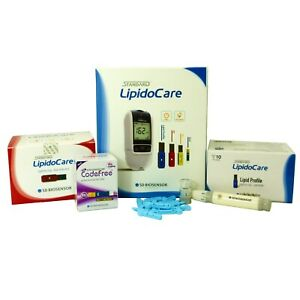 LipidoCare Meter for Total Cholesterol, HDL Cholesterol, Triglycerides & Glucose