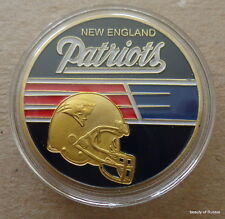 NFL  New England Patriots  Football   24K GOLD  PLATED  40 mm  COIN  #2
