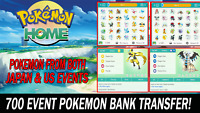 Pokemon Home Sword and Shield 700 Event Pokemon Pokebank Transfer!!