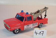 Majorette 1/80 Dodge Dépanneuse WRECK TRUCK POMPIERS SOS rouge #417