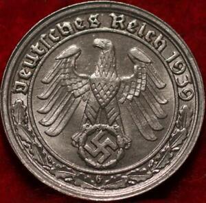 1939 Germany 50 Reichspfennig Foreign Coin