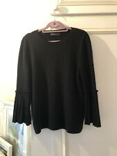 Marks And Spencers Black  Jumper New Size  12