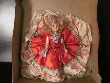 Vintage Plastic Christmas Pillow Doll