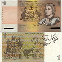 Australia 1st Last QE2 Folder AA +Dated Ovpt $5 Polymer +$1 Paper Banknote issue