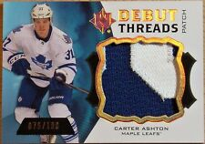 2012-13 UPPER DECK ULTIMATE COLLECTION HOCKEY CARTER ASHTON DEBUT THREADS 76/100