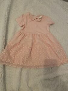 H&M Pink baby Party Dress - Collar & Lace -9-12 Months