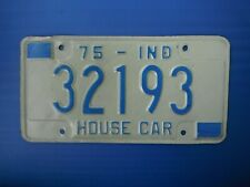 1975 Indiana House Car License Plate Tag