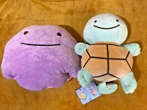 "Pokemon Ditto Squirtle Transform Reversible 12"" / 30cm Plush Teddy Soft Toy -NEW"