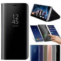Clear Smart View Mirror Case Leather Flip Stand Cover Samsung Galaxy S9 S9 Plus