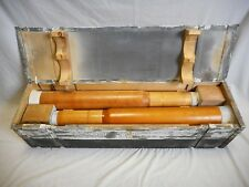 "WORLD WAR II WWII 3"" WOODEN DUMMY CARTRIDGE (4) 1943 NAVY HMC MK 6 50 CAL W/CASE"
