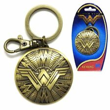 DC Comics NEW * Wonder Woman Shield Key Chain * Pewter Keychain Clip Shield NIP