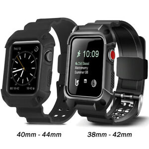 Shockproof Rugged Case Strap Band For Apple Watch Series 6 5 4 3 2 1-38 40 42 44
