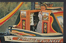 Canals Postcard - A Traditionally Painted Narrow Boat Cabin  A4126