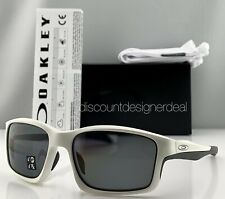Oakley Chainlink Sunglasses OO9247-07 Matte White Frame Gray Polarized Lens 57mm