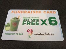 Jamba Juice BOGO fundraiser card - 6 buy one get one free per card