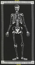 "Mr. Bones Full Body Glow in the Dark Skeleton 24"" Panel Cotton Fabric #4013"