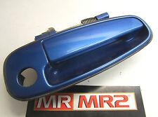 Toyota MR2 MK2 Drivers Side Exterior Door Handle Caribbean Blue 8B6 Right Hand