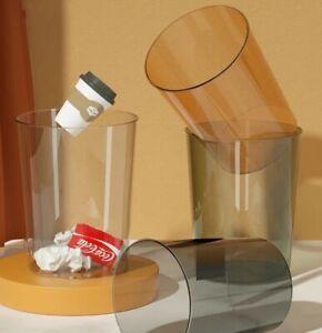New PET Trash Can Garbage Basket Home Office Kitchen Bedroom Waste Bin Desktop