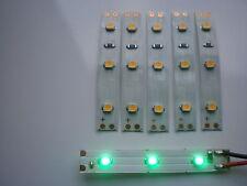 5 St. LED Hausbeleuchtung -grün-  5 cm Lampe  Modellbeleuchtung Bahnsteig